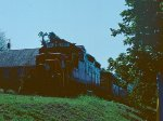 The Blue Ridge Scenics train lays over in Copperhill, TN.
