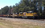 UP SD70's 8836, 3914, and 8735