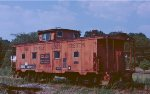 SBD caboose on the Sequatchie Valley at Bridgeport.