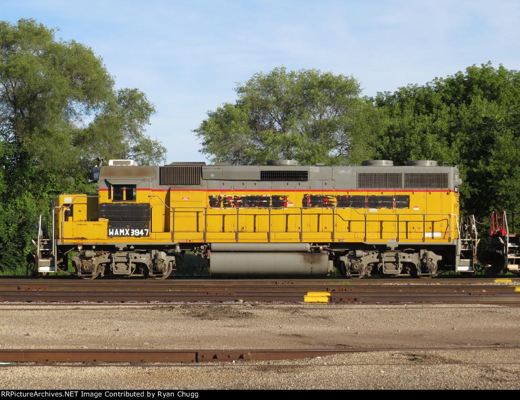WAMX GP39-2 No.3947 in Janesville,Wi.