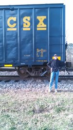 Standing by CSX Boxcar
