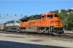 BNSF 8523 leading a westbound ogex coal load towards  santa fe jct
