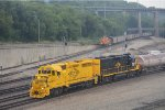 KCT 3855 with a transfer while another coal empty waits