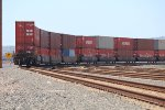 Intermodal freight cars waiting Port of Long Beach