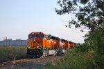BNSF 3844 Leads Her All Tier 4 Consist out of GE Fort Worth Locomotive Plant as the Sun Sets on All 5 ET44C4'S!!! :)))