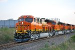 The Consist of 5 Very,Very, Very Brand New ET44C4'S Tier 4 Locomotives Being led by BNSF 3844, 3850, 3847,3851, And 3849 as they get Ready to Pull northbound towards The BNSF Alliance Texas Yard.