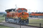 BNSF 3857 and BNSF 3854 on the connecting Tracks at GE Fort Worth Locomotive Plant.