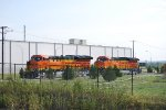 BNSF 3853 and BNSF 3854 on the Service Track.