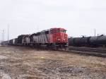 CN SD60F #5545 hamers down the mainline with train #399 in tow