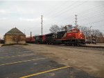 C&NW Oshkosh, WI Depot with CN 8890 and CN 2176