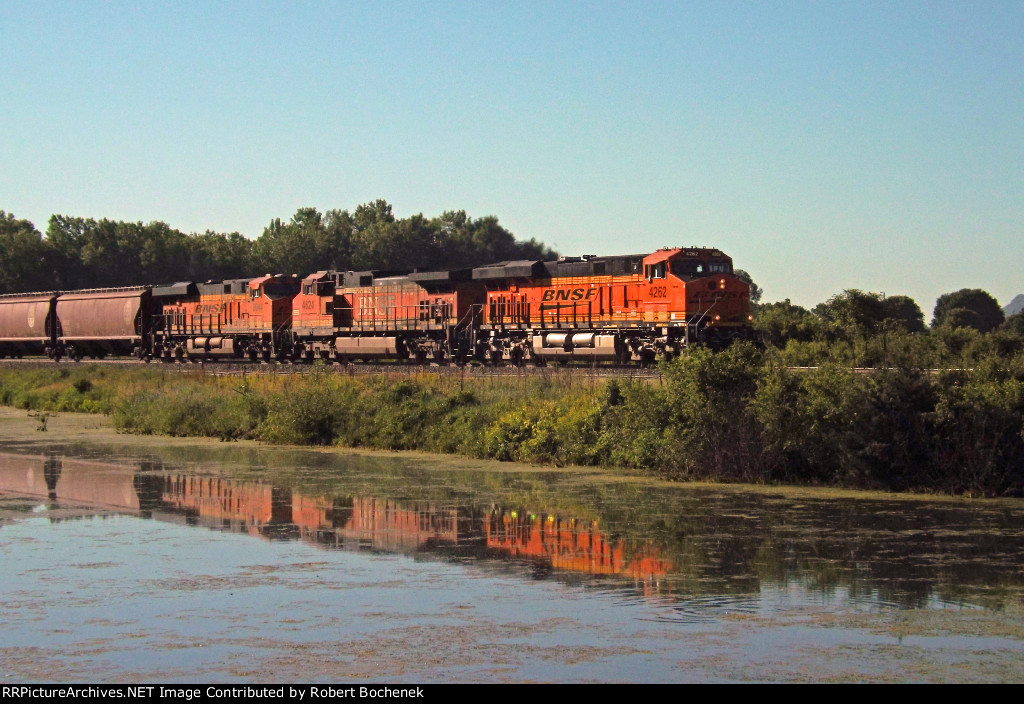 Morning Westbound at Trempealeau