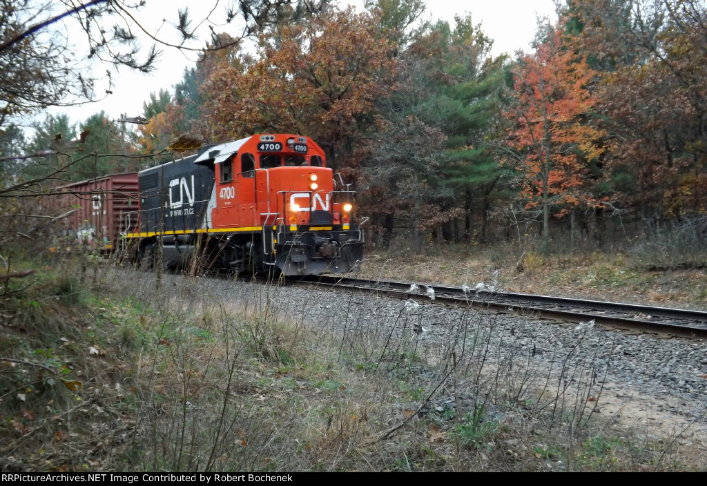 CN GP38-2 4700 Whiting, WI_10-18-16