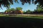 BNSF 3801 and 4279 west at Trempealeau