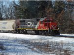 CN (GTW) GP38-2 5836 in Whiting, WI_3-10-18