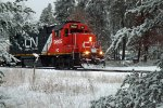 CN (IC) GP38-2 9605 northbound on the P-Line, Whiting, WI at strange Street S-curve_3-5-16