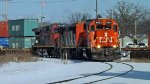 CN L592 leaves Stevens Poiont to Wisconsin Rapids, WI_2-11-18