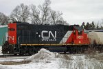 CN/IC GP38-2 9605 Stevens Point, WI_2-25-16