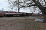 CN 2677 C44-9W and BC Rail 4642 C44-9WL holding at Stevens Point, WI depot_2-29-16