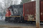 CN (IC) GP38-2 9605 at Prairie Street, Stevens Point, wI_4-6-16