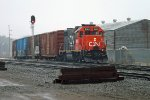 CN (IC) GP38-2 9605 Wood Street, Stevens Point, WI_4-6-16