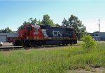 CN GTW GP38-2 5857 at Plover, WI_6-24-16