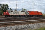 Soo 4405 and CP 3019 at Portage, WI 9-11-15
