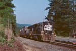 NS local P87 passes through Ridgecrest before going down the loops to Old Fort.
