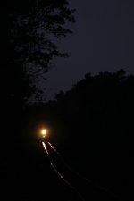 Night sand train sitting north of 207th Avenue