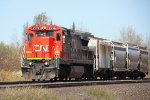 CN 2119 heads south with a four-car local