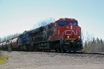 CN 3831 leads a northbound unit tank (not sure what commodity)