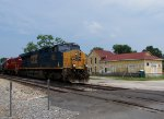 CSX H773 rolls passed the old depot