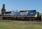 CSXT 7853 next to the yard office and C&O coal tower