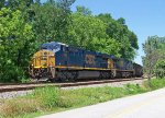 CSx coal train N17904 leaving Spartanburg.