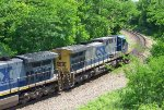 CSx southbound emerging from Spartanburg Tunnel.