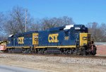 CSx work train power, laying over for the weekend.