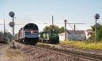 Amtrak wrong main at Albia while DSM job waits