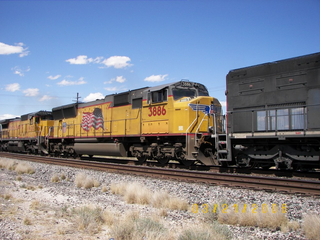 UP SD70M 3886