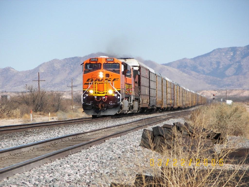 Westbound Autorack Train