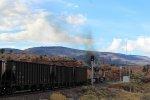 UP 6950 belching out smoke
