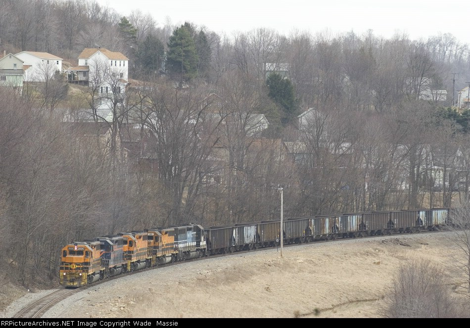 BPRR 2000 with empties from Homer City