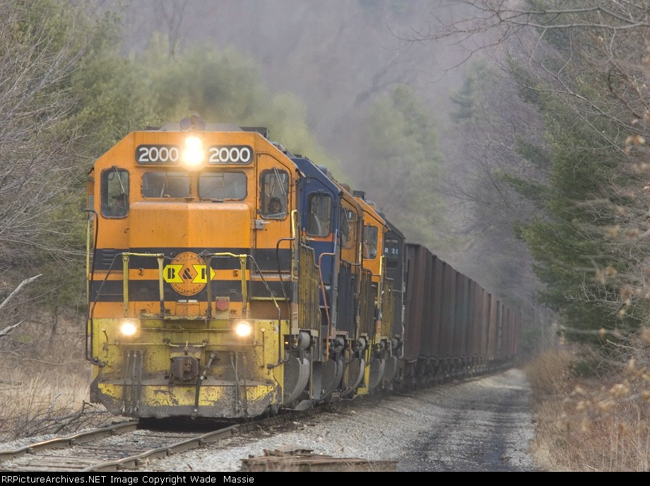 BPRR 2000 with a loaded coal train