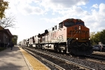 BNSF 7807 and four other GE's lead an eastbound stack train