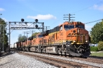 BNSF 6767 is in charge of an eastbound Z train