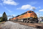 BNSF 6767 and four other GE's power an eastbound Z train