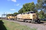 UP 6931 leads coal loads east