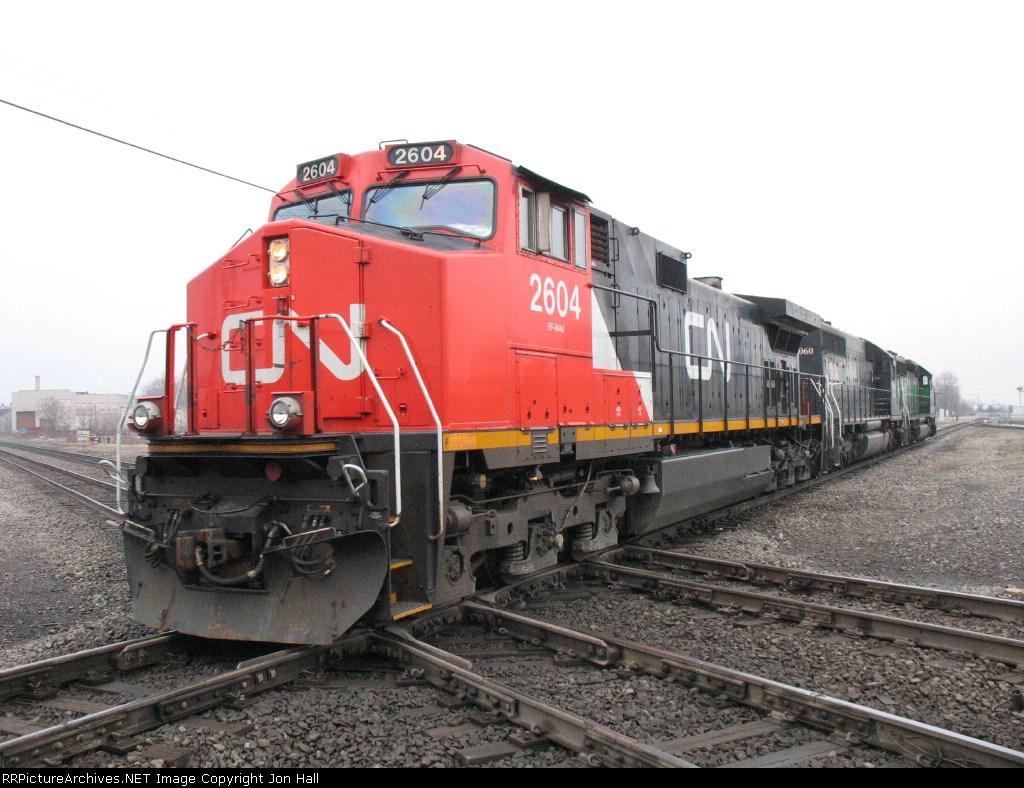 CN 2604, IC 6060 & BNSF 7837