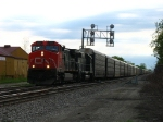 CN 2553 & IC 6051 lead X397 west with mostly autoracks