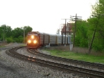 UP 5770 leads E251 off the Chicago Wye