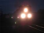 CN 2551 rolling east at dusk