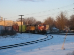 CN 5747 leading onto the wye